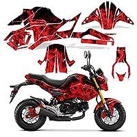 フルボディ ラップ グラフィック デカール ホンダ Grom125 17-18 オートバイ - レッドフレーム