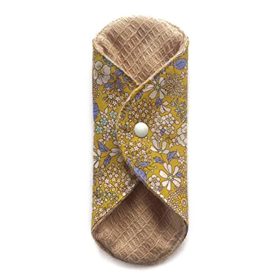 拾うウェイトレス守る華布のオーガニックコットンの極み あたため布 Sサイズ (約13×約13×約0.6cm) 雅(マスタード)