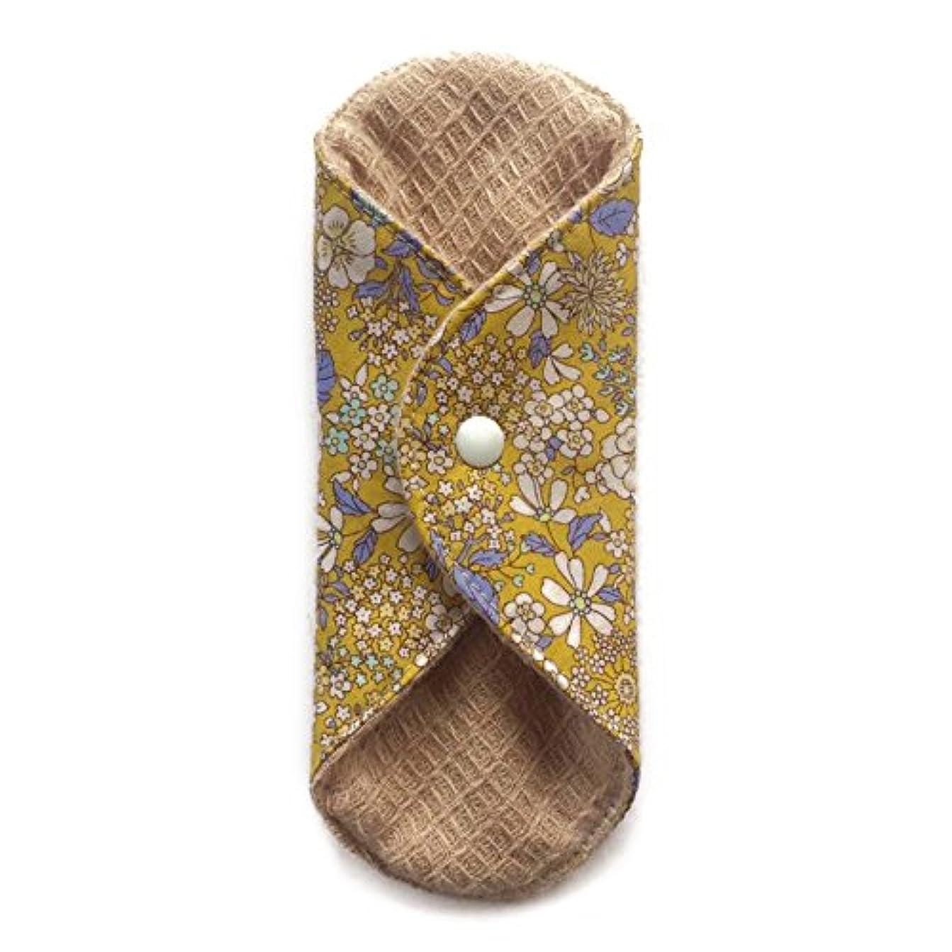 緊張するスペード心のこもった華布のオーガニックコットンの極み あたため布 Sサイズ (約13×約13×約0.6cm) 雅(マスタード)