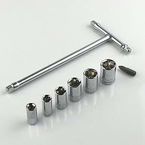 ツーリング仕様・携帯に便利 miniT型レンチソケットセット8pc WHSDH0072 [並行輸入品]