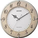 リズム時計 RHYTHM 電波 掛け時計 ライブリーナチュレ 木目 仕上げ 8MY506SR23