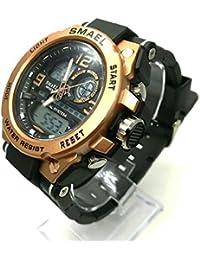 多機能メンズ腕時計防水 ミリタリー ブラック×ゴールド