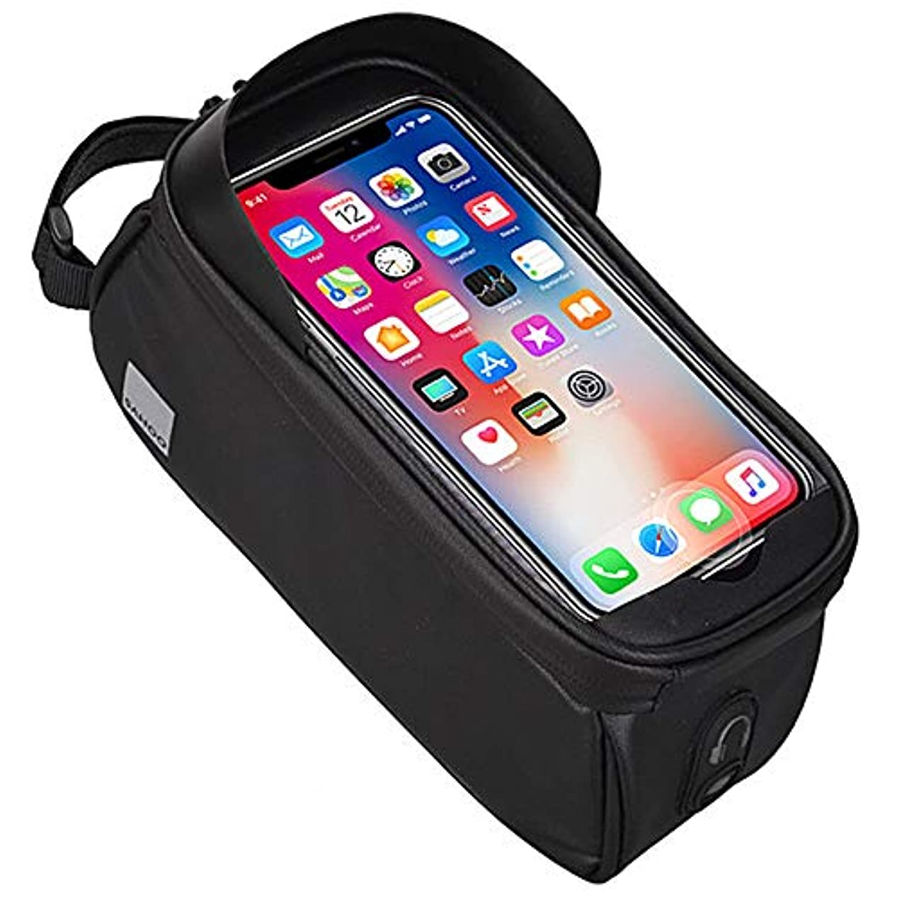 その他合法優しい防水携帯電話自転車フレームバッグ反射ストリップHD TPUタッチフィルム屋外バイクサイクリングハンドルバッグライディングキッÈ