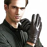 Veroman メンズ レザー 本革 羊革 手袋 グローブ スマホ対応 (XL, ブラウン)