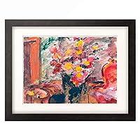ロヴィス・コリント Lovis Corinth 「Blumenvase auf einem Tisch, 1922.」 額装アート作品