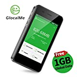 GlocalMe G3 4G LTE Mobile Hotspot, Worldwide High Speed WiFi Hotspot with 1GB Global Initial Data, No SIM Card Roaming Charges International Pocket WiFi Hotspot MIFI Device (Black)