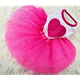 Idepet TM Spring Summer Pet Dog Cat Puppy Tutu Princess Dress Heart Printed Lace Skirt Clothes Pet Apparel (S)
