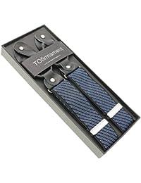 サスペンダーY型ストライプ6ボタン男女兼用
