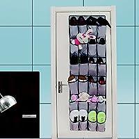 cozroom 24ポケットover theドア靴オーガナイザーストレージソリューションドア靴ラックパントリーハンギング靴オーガナイザー