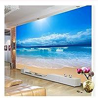 caomei カスタム3D写真の壁紙シービューの壁画リビングルームのソファーベッドルームのテレビの背景の壁紙海の太陽の光ビーチ壁の壁画@ 2