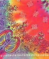 Doggie Skins Bandana - Tie Dye Paisley Print by Doggie Skins