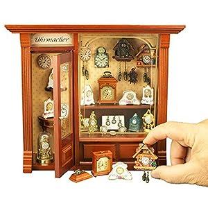 【ロイターポーセリン】【ミニチュア】 ピクチャーボックス 時計屋さん RP1797-6