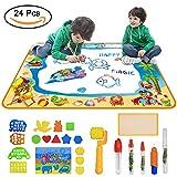 Maexus お絵かきシート 水で描く 2~4歳 おえかき おもちゃ 子供 ぬりえ らくがき 誕生日 贈り物 100x70cm