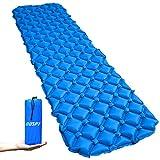 エアーマット エアーベッド キャンプマット 超軽量 寝袋 マットパッド ナイロン 防水フローティング コンパクト (ブルー)OUSPT