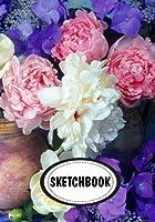 Sketchbook: Peonies; Blank Paper for Drawing
