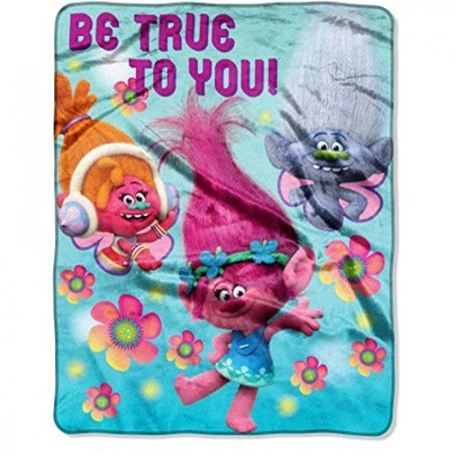 [ドリームワークス]DreamWorks Trolls Be True to You 40 x 50 Silk Touch Throw [並行輸入品]