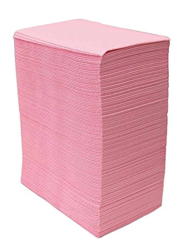 差兵士フォロー【125枚入】ネイルテーブルシート (ピンク) 防水加工 ジェルネイル ネイルペーパー ネイルマット 防水ネイルシート