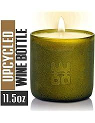 Woo Worldsの機会Lucky Candle Upcycledワインボトル L- 6oz