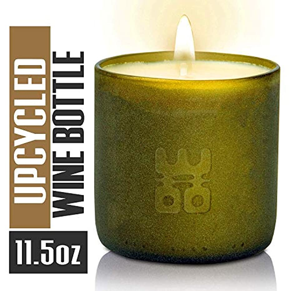 全く菊バリアWoo Worldsの機会Lucky Candle Upcycledワインボトル L- 6oz