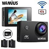 WIMIUS 4K ウェアラブルカメラ WIFI 防水 カメラ 16GB ドライブレコーダー用