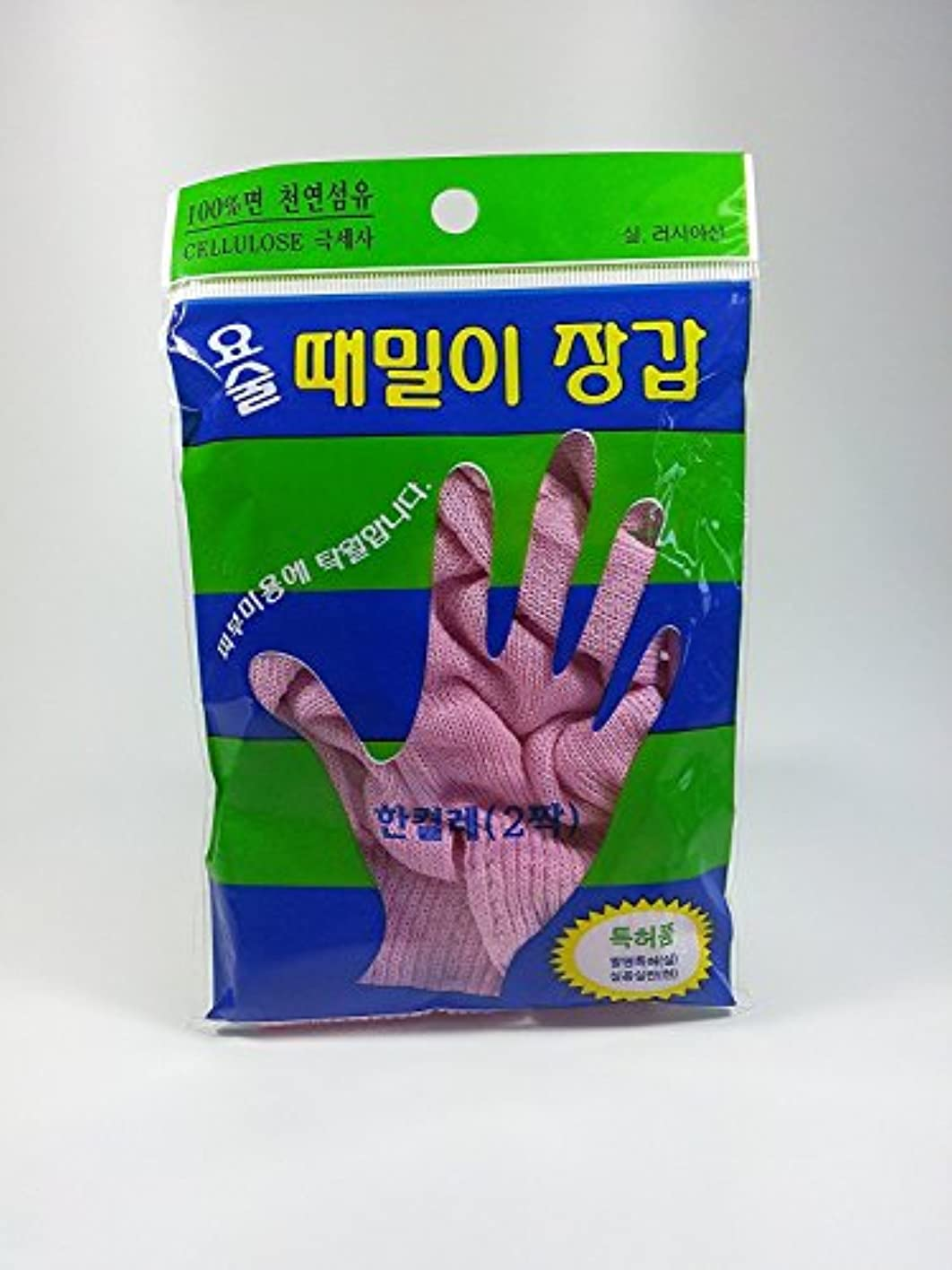 存在把握ラショナルジョンジュン産業 韓国式 垢すり 手袋 バスグローブ 5本指 ボディスクラブ 100% 天然セルロース繊維製 ???? ??????? Magic Korean Body Back Scrub [並行輸入品]