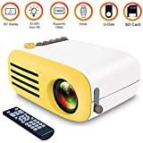 Portable Mini Projector, LEEGOAL [2018 Upgraded] 1080P Micro LED Video Projector Built-in Speaker, Remote Control Ideal for Home Theater Entertainment Games Parties