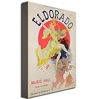 Trademark Fine Art El Dorado、1836 作者 Jules Cheret キャンバス ウォールアート 16 by 24-Inch BL00193-C1624GG