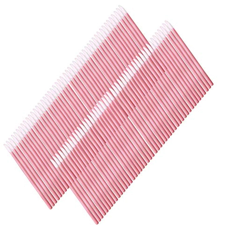 レプリカタイプ線50使い捨てのリップブラシメイクブラシアプリケーターリップグロス口紅のメイクアップツールトークン(ピンク)