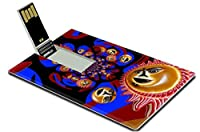 Luxlady 32GB USBフラッシュドライブ2.0メモリスティッククレジットカードサイズ抽象背景グラフィックデザインアートillustracion Sun Moonイメージ37932393