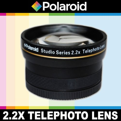 Polaroidスタジオシリーズ2.2X高望遠レンズレンズポーチとキャップカバーのNikon 1j1、j2、j3、v1、v2、v3、s1、aw1デジタルSLRカメラ、このはこれらの任意の( 10–100mm ) Nikon 1レンズ