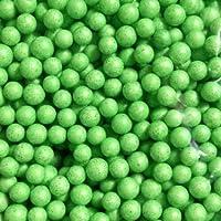 FidgetGear 6000pcsはスライムカラフルな発泡スチロールのビーズ玉美術工芸DIYのためのフォームボールを2~3ミリメートル green 7-9mm(1300pcs)
