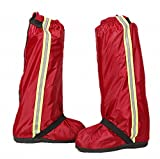 B.H. Select レイン シューズ カバー 男女兼用 防水 強力撥水 靴の上から履ける 雨 雪 泥 汚れ 対策(専用ポーチ付き) (レッド(XXL:25-25.5cm)) bh36-11
