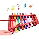 Wishtime 鉄琴 人気 シロフォン おもちゃ 8音階 幼児 赤ちゃん 子ども 知育 楽器 出産祝い 誕生日プレゼント