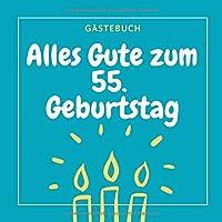 GAeSTEBUCH ALLES GUTE ZUM 55. GEBURTSTAG: Gaestebuch QUADRATISCH punktiert Geschenk zum 55. Geburtstag | Geburtstagsgeschenk | Gaestebuch | Geburtstagsfeier | Fuenfundfuenfzigster | Opa Oma