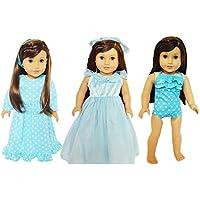 私のブルターニュの3 Outfits forアメリカンガール人形 – 18インチ人形Clothes