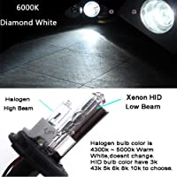 FidgetGear HID Headlight Bulb Conversion Xenon Halogen Hi-Lo H4-2 6000K Diamond White B1