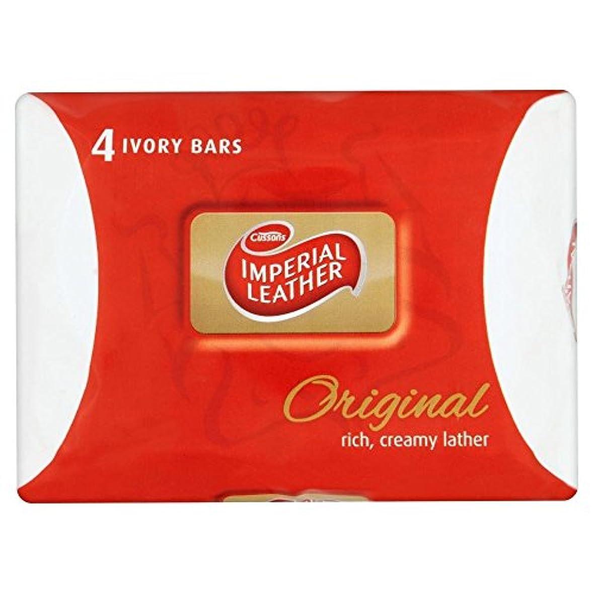 いとこ音ドレインImperial Leather Original Soap (4x100g) 皇室の革本来の石鹸( 4X100G )