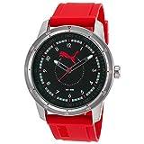 プーマ 腕時計 be-puma pu104111002beメンズレッドゴムブラックダイヤル時計