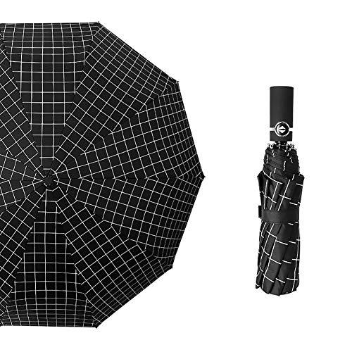 フェミニス 折りたたみ傘 雨傘 日傘 ワンタッチ自動開閉 大きい傘 チェック柄 ストライプ 10本骨 コーティング 210T ビジネス傘 超撥水 男性用 雨具 風に強い 折りたたみ傘 雨晴れ兼用