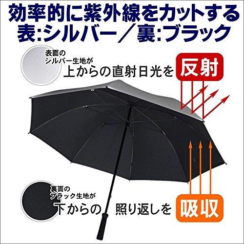 製造直販ゴルフ屋 晴雨兼用 銀バリ傘 UVカット99.9% 日傘 大型約70cm傘 ta921