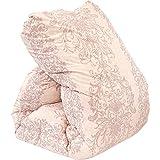 昭和西川 羽毛布団 国産 シングル ピンク ホワイトダウン90% 増量1.3kg ダウンパワー360dp以上 二層(ツイン)キルト 国内パワーアップ加工