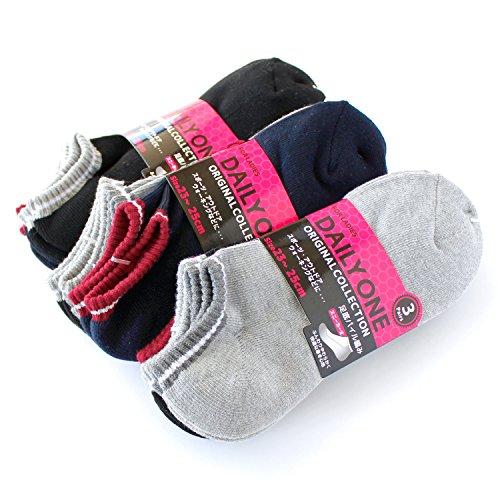 靴下 レディース スポーツ くるぶし ショート ソックス 9足セット 足底パイル編み ベーシックカラー