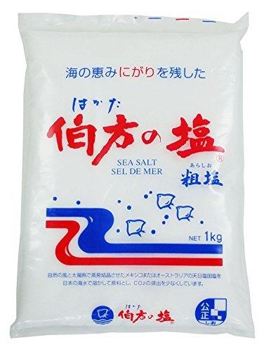 伯方の塩 粗塩 1kg /伯方の塩(3袋)