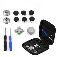 ボタンキット ミニ 磁気 サムスティックキャップ 修理キット11 in 1 交換部品 PS4 / XBOX ONEコントローラー用 収納袋付き メタル+ ABS