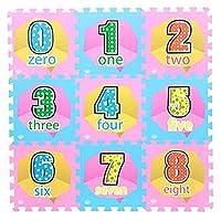 ベビー泡遊びマットキッズパズル遊び寝室ベルベットマット30x30cm(9個)、f