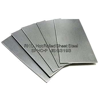 RKC 鋼板 100 × 50mm × 厚 1.6mm 5枚 SPHC-P JIS規格品 109E