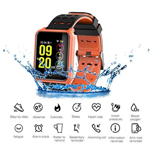 スマートウォッチ、IP68 ディープ防水/Blood 圧力心拍数検出/歩数計消費カロリーアクティビティトラッカー/アンドロイド & IOS 携帯電話用,C