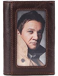 Genda 2Archer(JP) 小銭入れ メンズ レザー 二つ折り財布 本革 牛革 カードケース カード6枚収納 ファスナー ミニ ウォレット 革 コンパクト コーヒー