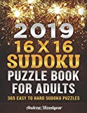 2019 16 X 16 Sudoku Puzzle Book For Adults: 365 Easy to Hard Sudoku Puzzles for Each Day of the Year (2019 16 X 16 Sudoku Puzzle Books For Adults)