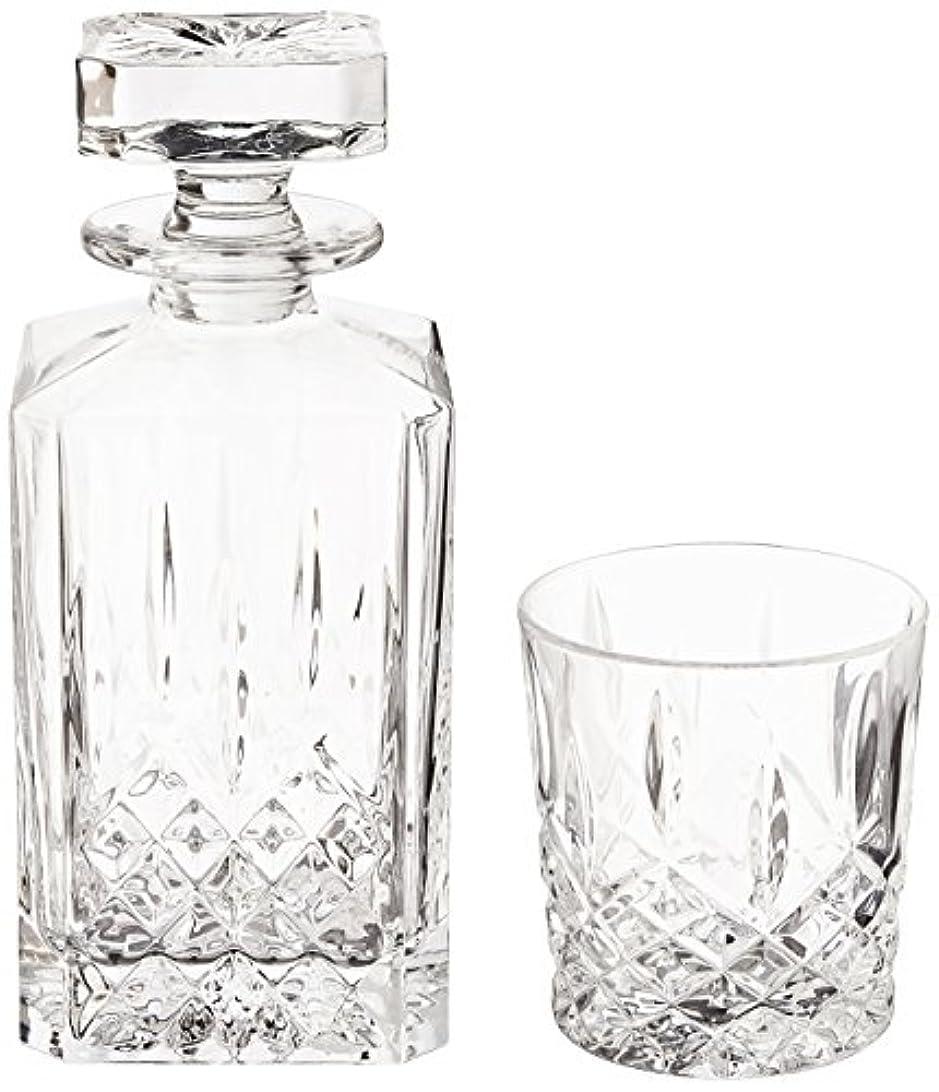 前置詞メディア降伏(Decanter Set) - Marquis by Waterford Markham 330ml Double Old Fashioned Glasses Pair and Square Decanter Set,...